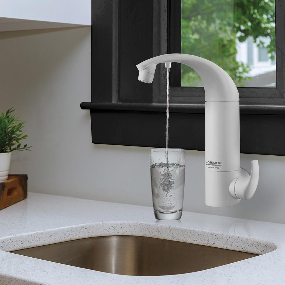 2 em 1: Purificador com torneira Acqua Due garante água natural e purificada de maneira prática