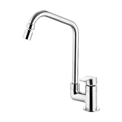 Kitchen deck mount Faucet - Movable spout