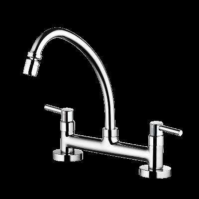 Kitchen deck mount mixer faucet - Movable spout - DN 15 1/2