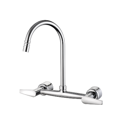 Kitchen wall mount mixer faucet - Movable spout
