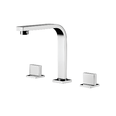Deck mount Lavatory Mixer - High Spout